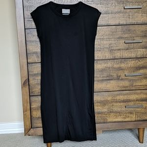 EVERLANE - The Luxe Cotton Side-Slit Tee Dress